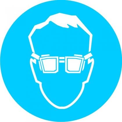 Знак предписывающий M01 Работать в защитных очках