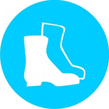 Знак предписывающий M05 Работать в защитной обуви