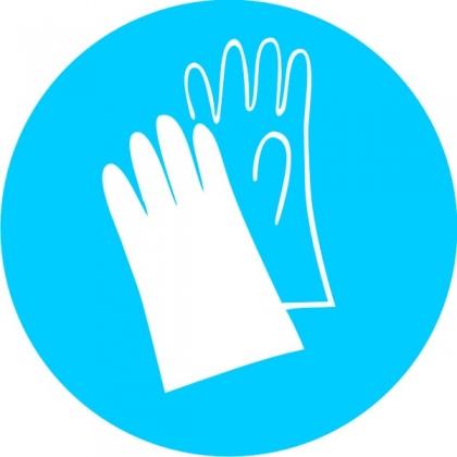 Знак предписывающий M06 Работать в защитных перчатках