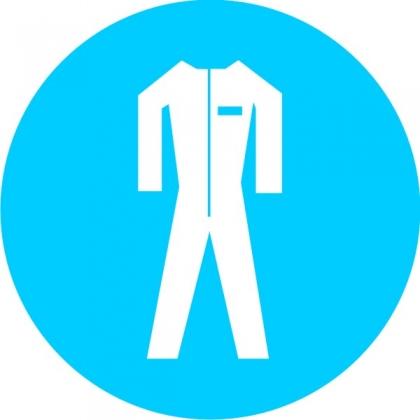 Знак предписывающий M07 Работать в защитной одежде