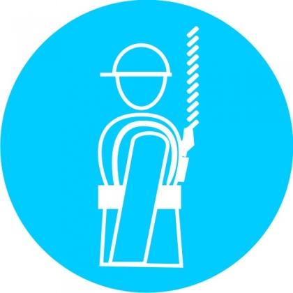 Знак предписывающий M09 Работать в предохранительном (страховочном) поясе