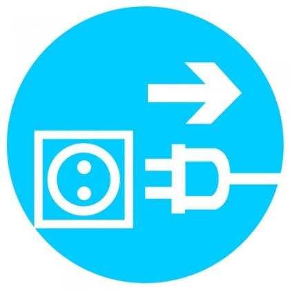 Знак предписывающий M13 Отключить штепсельную вилку