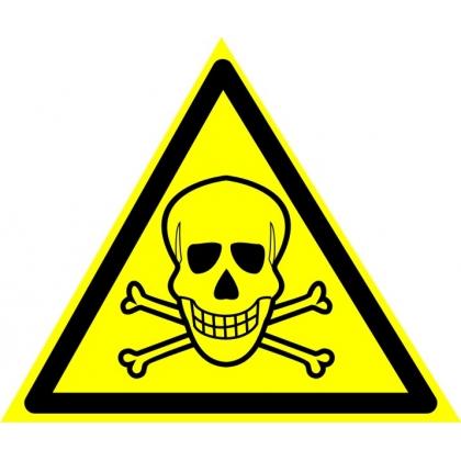 Знак предупреждающий W03 Опасно. Ядовитые вещества.