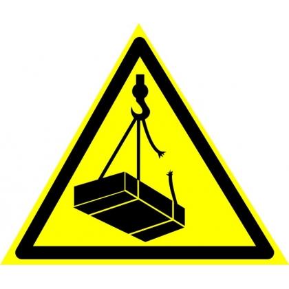 Знак предупреждающий W06 Опасно. Возможно падение груза.
