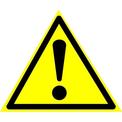 Знак предупреждающий W09 Внимание. Опасность (прочие опасности).