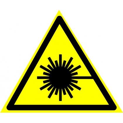 Знак предупреждающий W10 Опасно. Лазерное излучение.