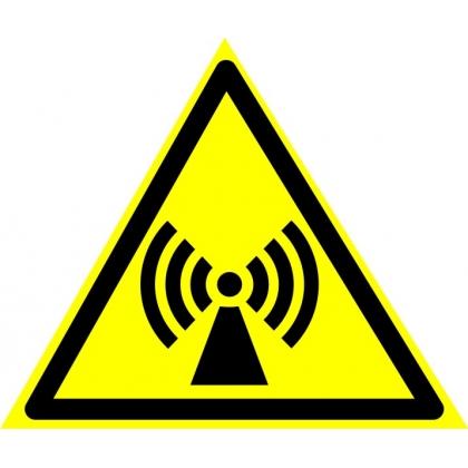 Знак предупреждающий W12 Внимание. Электромагнитное поле.
