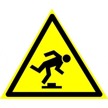 Знак предупреждающий W14 Осторожно. Малозаметное препятствие.