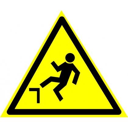 Знак предупреждающий W15 Осторожно. Возможно падение с высоты.
