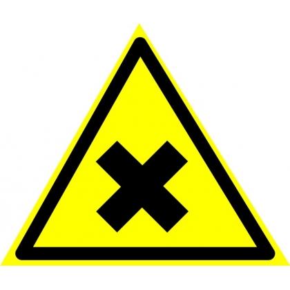 Знак предупреждающий W18 Осторожно. Вредные для здоровья аллергические (раздражающие вещества).