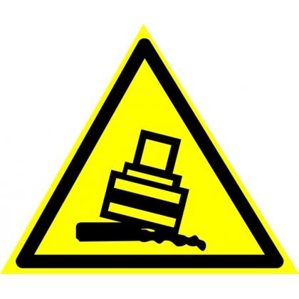 Знак предупреждающий W24 Осторожно. Возможно опрокидывание.