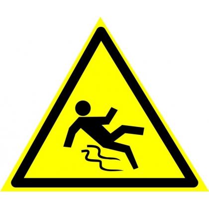 Знак предупреждающий W28 Осторожно. Скользко.