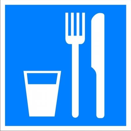 Знак указательный D01 Пункт (место) приема пищи