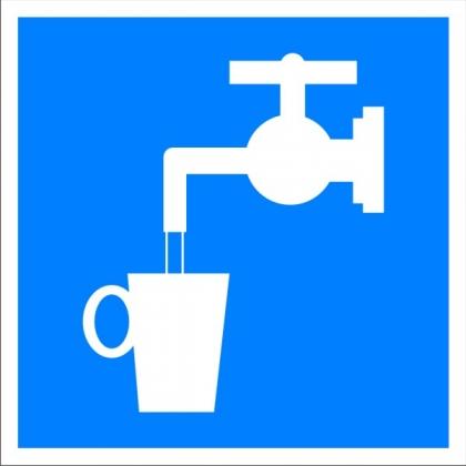 Знак указательный D02 Питьевая вода
