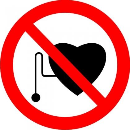 Знак Р11 Запрещается работа (присутствие) людей со стимуляторами сердечной деятельности