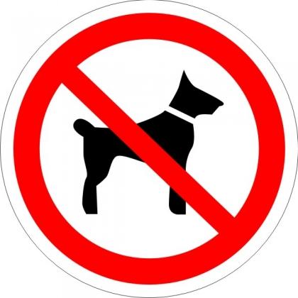 Знак Р14 Запрещается вход (проход) с животными